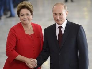 Dilma e Putin se encontraram no Palácio do Planalto (Foto: Wilson Dias / Agência Brasil)