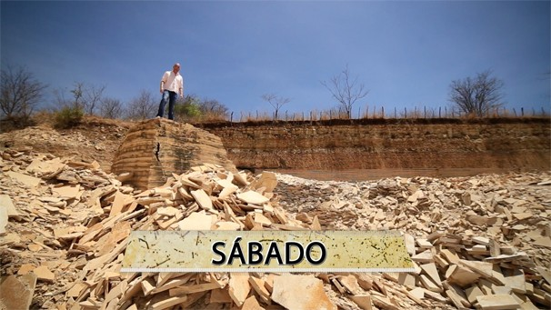 Rodrigo Vargas vai visitar o sítio paleontológico em Araripe. (Foto: Produção / Verdes Mares)