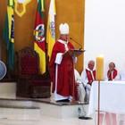 Missa lembra conselhos  do Papa (Luiza Carneiro/G1)