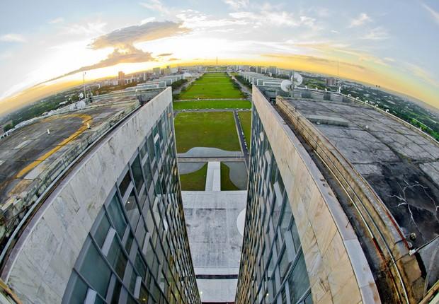 Esplanada dos Ministérios em Brasília, vista do 28° andar do Congresso Nacional ; governo federal ;  (Foto: Ana Volpe/Senado)