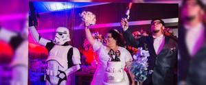 Casamento das galáxias! Programa mostra casal que fez festa com temática Star Wars; assista  (Reprodução / TV Diário )