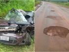 Motorista morre em acidente ao tentar desviar de buraco na BR-070
