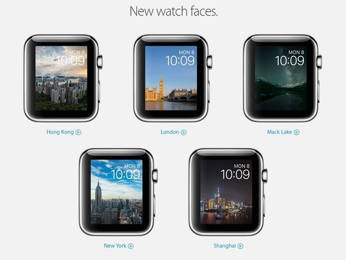 Novas Watch Faces do Apple Watch (Foto: Divulgação/Apple)