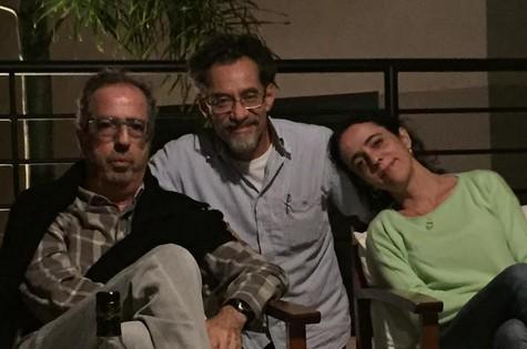 Sérgio Rezende, Chico Diaz e Silvia Buarque (Foto: Arquivo pessoal)