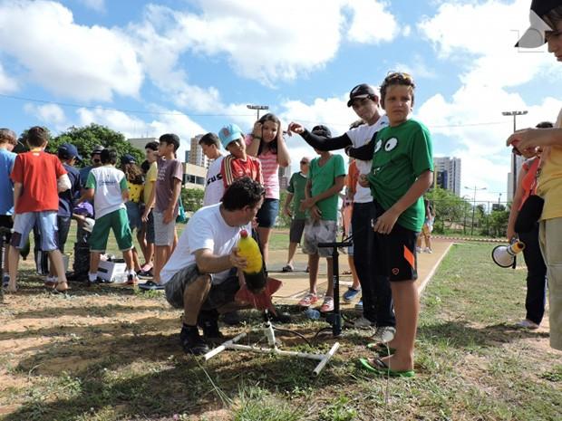 Atividade faz parte da Olimpíada Brasileira de Astronomi (Foto: Divulgação/Assessoria IECE)