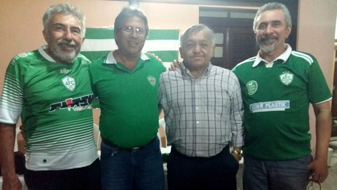 RN - nova presidência do Alecrim - Ubirajara Holanda, Osvaldo Trigueiro, Francisco Valério e João Bosco (Foto: Diogenes Baracho/Divulgação)
