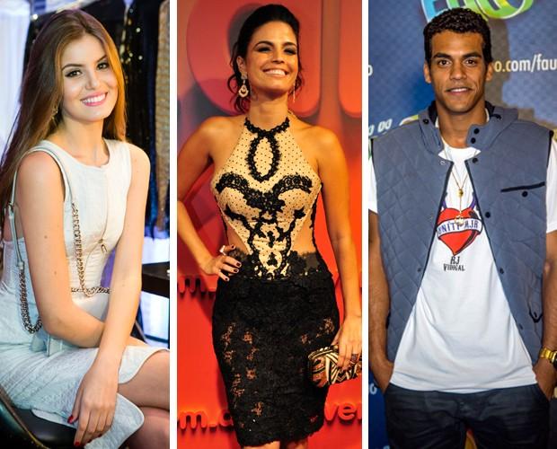 Camila Queiroz, Emanuelle Araújo e Marcelo Mello Jr. estarão no programa  (Foto: Gshow)