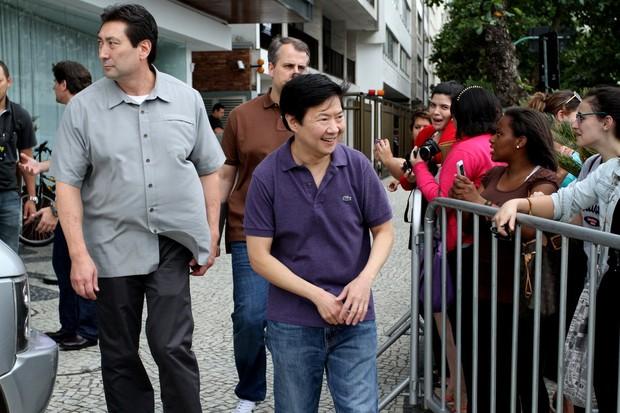 """Elenco do filme """"Se beber não case"""" no Rio (Foto: Henrique Oliveira/PhotoRioNews)"""