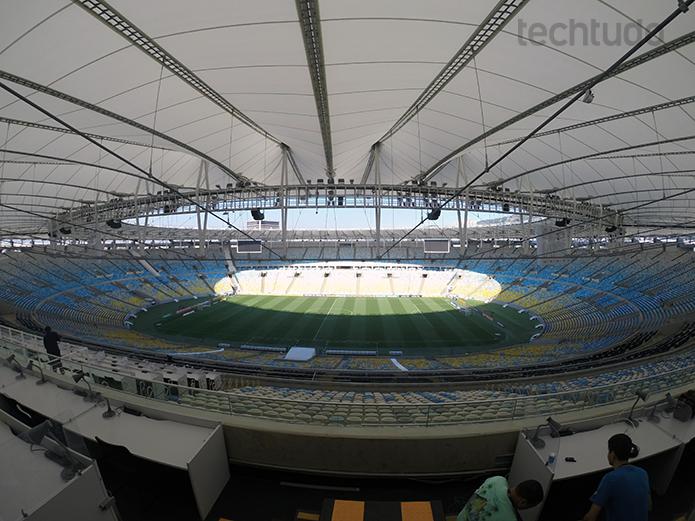 Campo de visão da nova GoPro fica bem aberto (Foto: Aline Jesus/TechTudo)