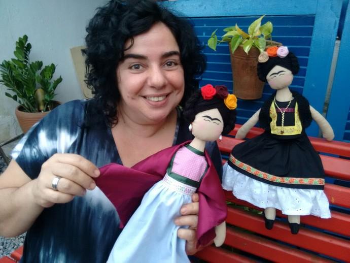 Mariza realiza sonho antido de fundar atelier escola de artes  (Foto: Arquivo Pessoal/ Mariza Moreira)