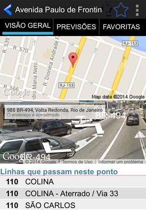 Aplicativo CittaMobi monitora horários de ônibus em Volta Redonda (Foto: Reprodução)