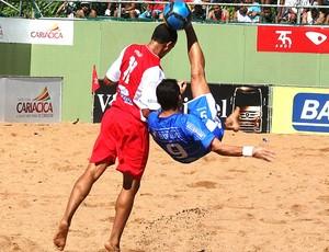jogo entre Vitória e Vila Velha no futebol de areia (Foto: Pauta Livre / Divulgação)