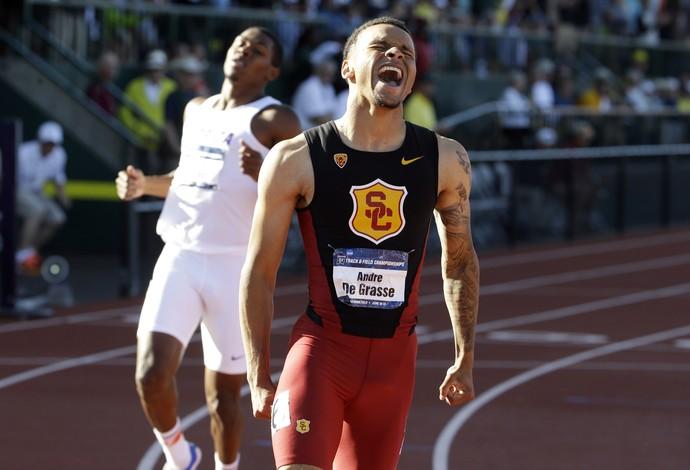 Andre De Grasse vence os 100m e 200m nos EUA (Foto: Associated Press)