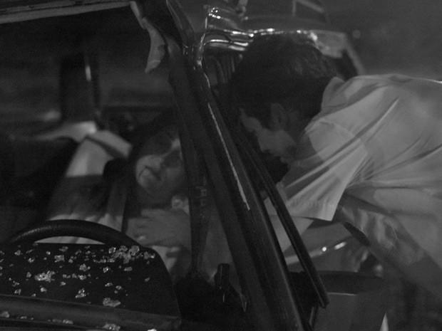 A mãe do ambientalista não resistiu aos ferimentos de um acedente de carro (Foto: TV Globo)