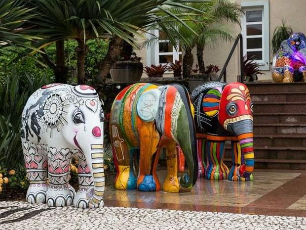 Elephant Parade Floripa (Foto: Mariana Boro/Divulgação)