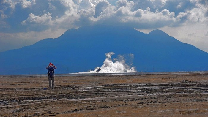 Vulcão Lusi (Foto: Adriano Mazzini/The Lusi Lab Project)