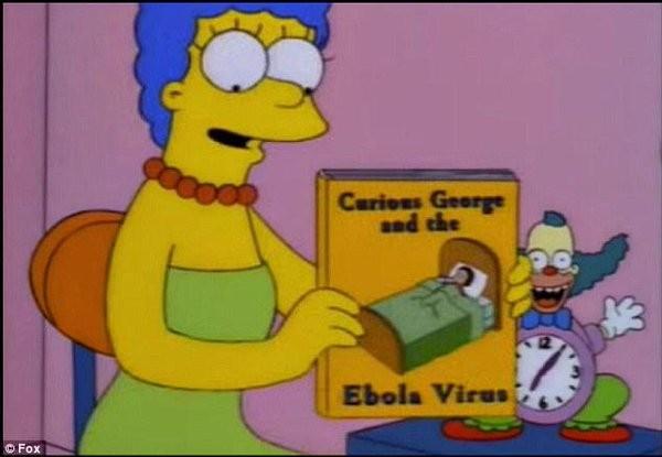 Marge leu livro sobre ebola - Simpsons (Foto: Reprodução)