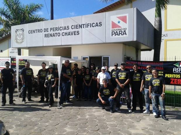 Segundo a Associação de Peritos do PA, 70% dos trabalhadores aderiram à paralisação da categoria em Belém nesta segunda-feira (3). (Foto: Cira Pinheiro/Aspop)