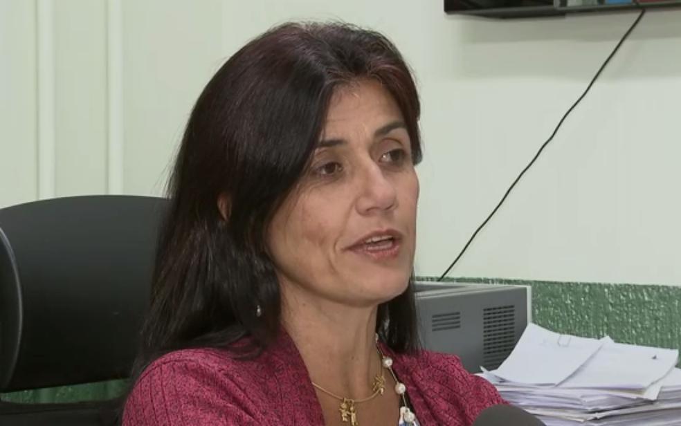 Delegada responsável pela investigação do assassinato de uma travesti em Taguatinga Silva, Gláucia Cristina (Foto: TV Globo/Reprodução)