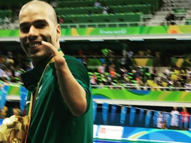 Maia fez registro do nadador brasileiro Daniel Dias durante Paralimpíada (Foto: Reprodução/ Internet)