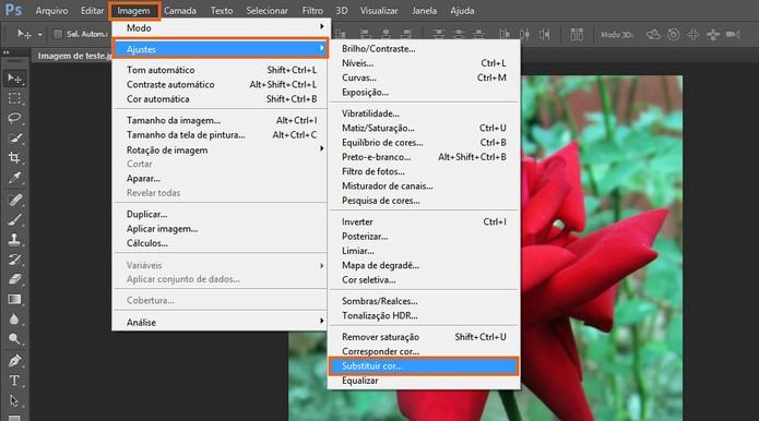 Selecione a ferramenta para substituição de cor no Photoshop (Foto: Reprodução/Barbara Mannara)