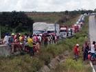 Protestos param trânsito em rodovias federais na Paraíba nesta terça-feira