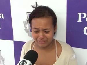 Mãe conta que se arrependeu de ter envenenado filha (Foto: Reprodução/TV Bahia)