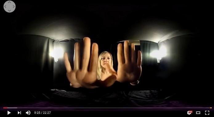 Vídeo de relaxamento usando realidade virtual (Foto: Reprodução/YouTube)