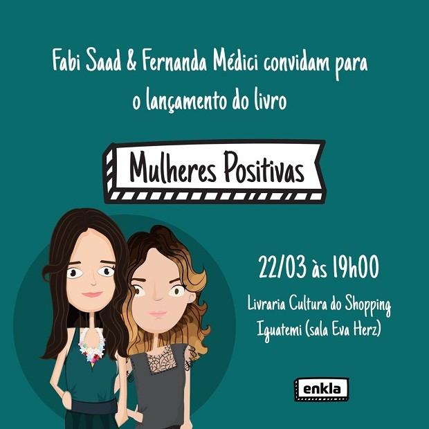 Fernanda Médici e Fabiana Saad lançam livro em SP (Foto: Divulgação)