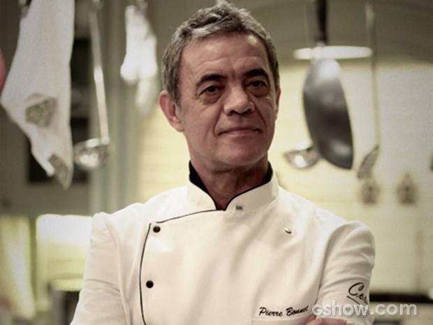 Pierre é o grande chef responsável pela comida da festa (Foto: Fábio Rocha / TV Globo)