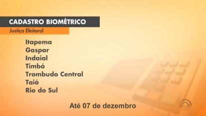 Justiça Eleitoral faz o cadastramento biométrico em seis cidades do Vale