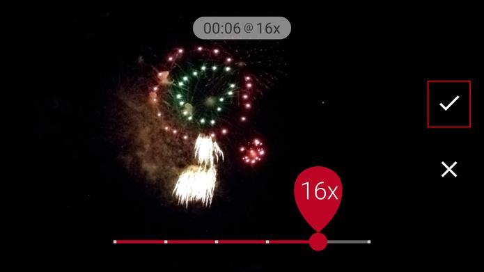 Microsoft Hyperlapse Mobile oferece o ajuste de velocidade final do vídeo após a opção (Foto: Reprodução/Elson de Souza)