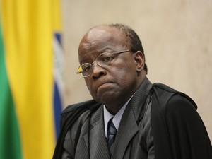 O presidente do Supremo Tribunal Federal, Joaquim Barbosa, na última sessão do mensalão (Foto: Carlos Humberto/SCO/STF)