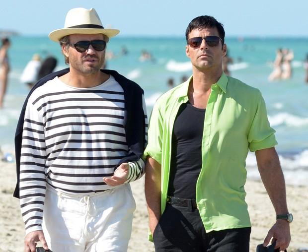 Edgar Ramirez e Ricky Martin (Foto: AKM-GSI)