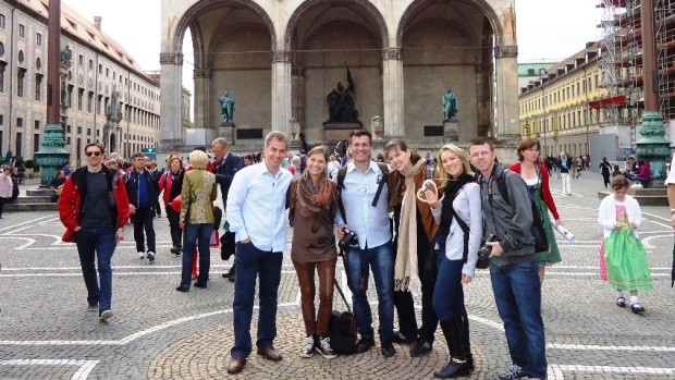 Equipe da RBS TV viajou à Alemanha (Foto: RBS TV/Divulgação)
