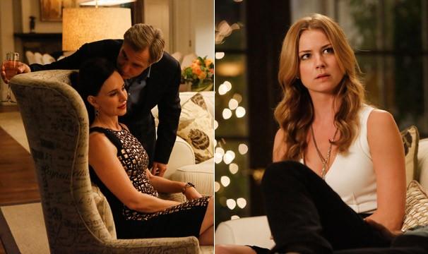 Pelos menos uma coisa Victoria e Emily têm em comum: elas não gostam de ouvir a notícia (Foto: divulgação)