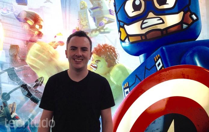 Sam Delaney, produtor do game, conta os detalhes (Foto: Cassio Barbosa/TechTudo)