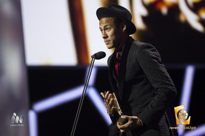 Neymar, premiação Campeonato Espanhol (Foto: Reprodução / Twitter)