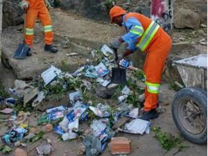 Equipes de limpeza recolheram toneladas de materiais (Foto: Divulgação/ Prefeitura de Vila Velha)