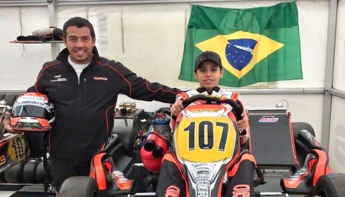 Gabriel Bortoleto no Mundial de Kart
