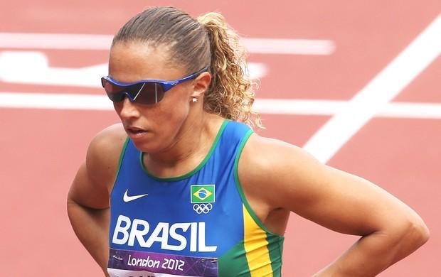 Geisa Aparecida na prova de atletismo em Londres (Foto: Getty Images)