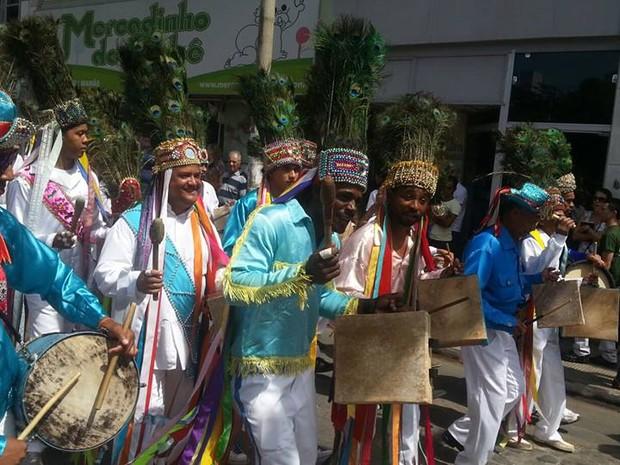 Músicas das Festas de Agosto têm origens indígenas e africanas (Foto: Nicole Melhado / G1)