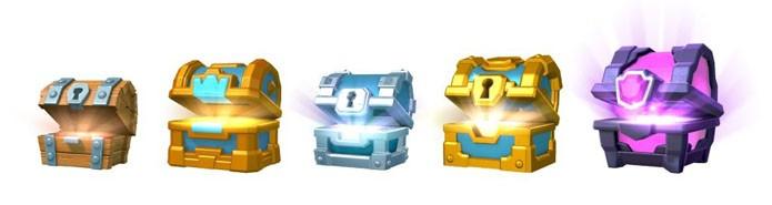 Os diferentes tipos de baús de Clash Royale (Foto: Reprodução/Clash Royale Boss)