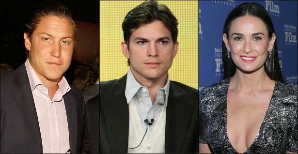 Demi Moore, de 52 anos, se casou em 2005 com Ashton Kutcher, de 36. Eles terminaram após ela descobrir traições dele, e o divórcio saiu em 2013. De lá para cá, a atriz teve alguns casos, inclusive com o marchand Vito Schnabel, de 28 anos. (Foto: Getty Images)