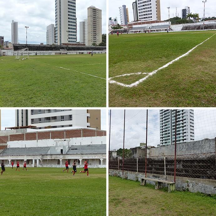 MONTAGEM - Estadio Juvenal Lamartine Natal (Foto: Fred Gomes)