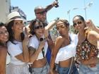 'Arrastão de famosos' de Ivete arrasta multidão no fim da folia em Salvador