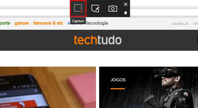Use a tecla PrntScr ou clique no botão flutuante para capturar (Foto: Reprodução/Paulo Alves)