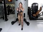 Núbia Óliiver mostra treino e entrega segredo de boa forma aos 43 anos