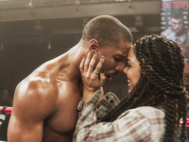 Michael B. Jordan e Tessa Thompson em 'Creed: nascido para lutar' (Foto: Divulgação)