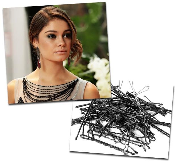 A atriz confessa que na hora de prender o cabelo curtinho o jeito é recorrer a (muitos) grampos! (Foto: Reprodução e Divulgação/ Rede Globo)